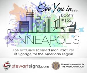 Stewart Signs at the Centennial National American Legion Convention