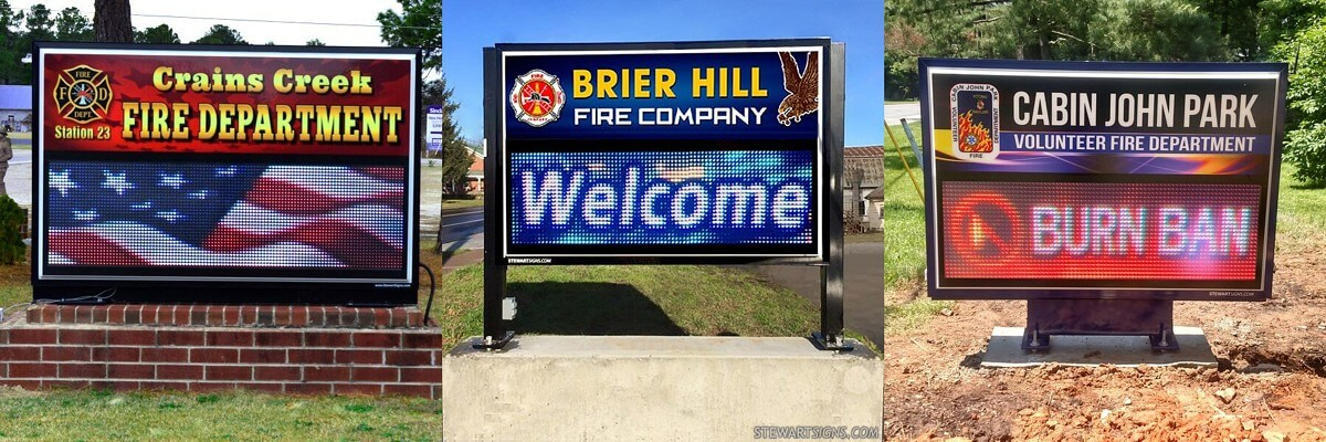 Fire Department LED Signs
