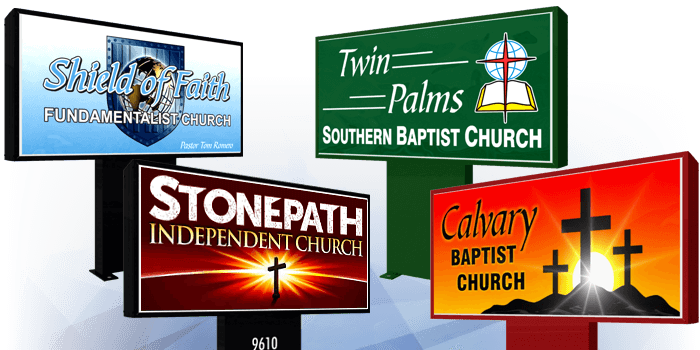 Light Box Church Signs