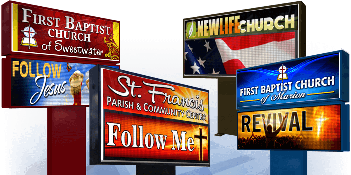 Outdoor LED Church Signs