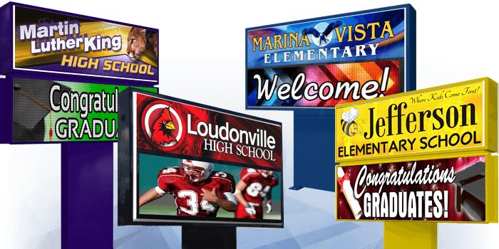 Outdoor LED School Signs