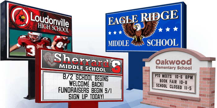 School Signs Led And Letter For Schools