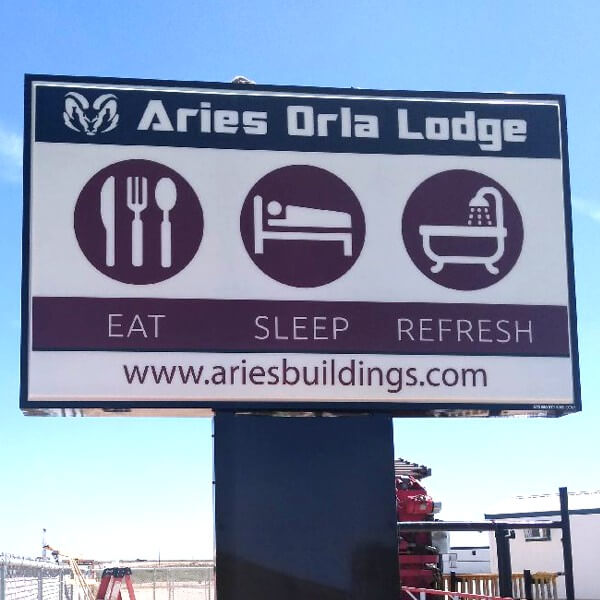 Business Sign for Aries Building Systems, Llc