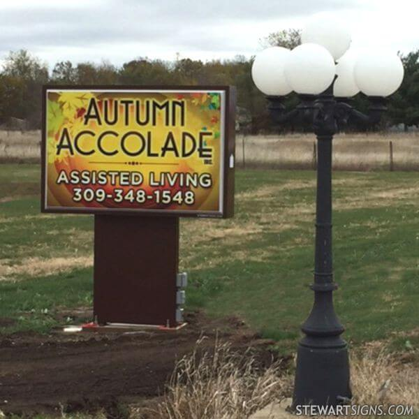 Business Sign for Autumn Accolade Inc Assisted Living