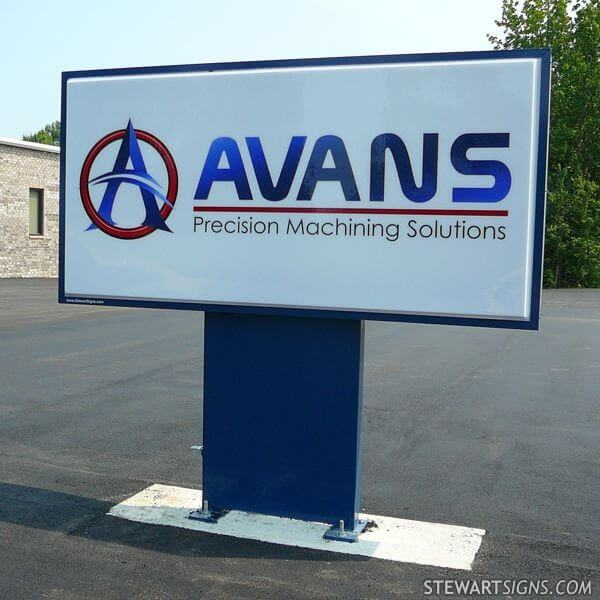 Business Sign for Avans Machine, Inc.
