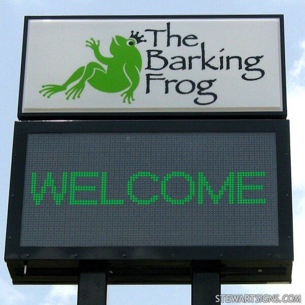 Business Sign for The Barking Frog