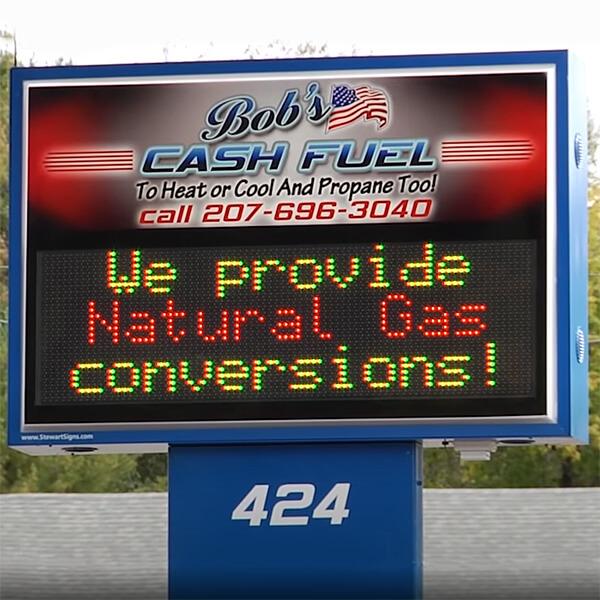 Business Sign for Bob's Cash Fuel Llc