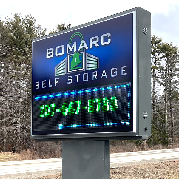 Business Sign for Bomarc Self Storage