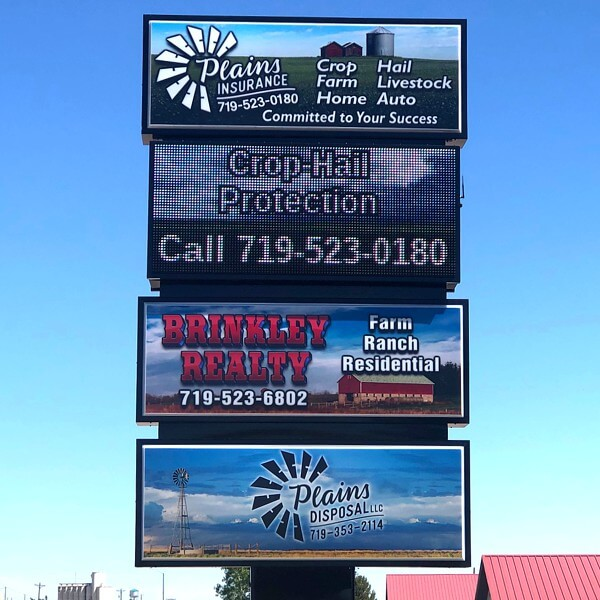Business Sign for Brinkley Realty And Plains Insurance