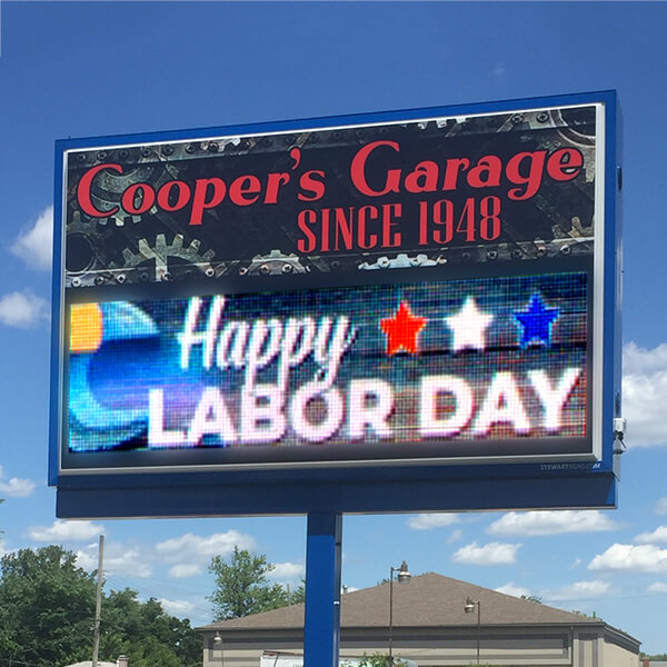 Business Sign for Cooper's Garage