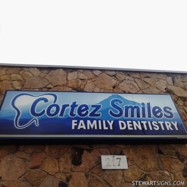 Business Sign for Cortez Smiles Family Dentistry