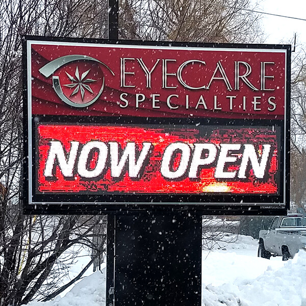 Business Sign for Eyecare Specialties