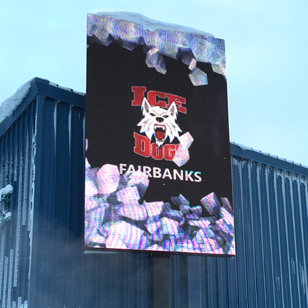 Business Sign for Fairbanks Hockey Hall Of Fame / Big Dipper Ice Arena