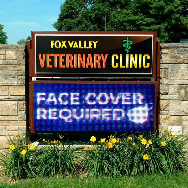 Business Sign for Fox Valley Veterinary Clinic