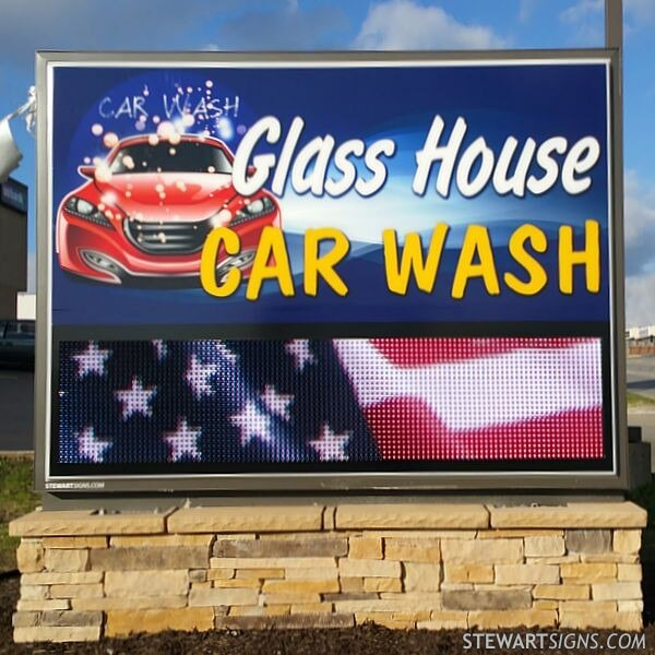 Business Sign for Gg Ventures Car Wash