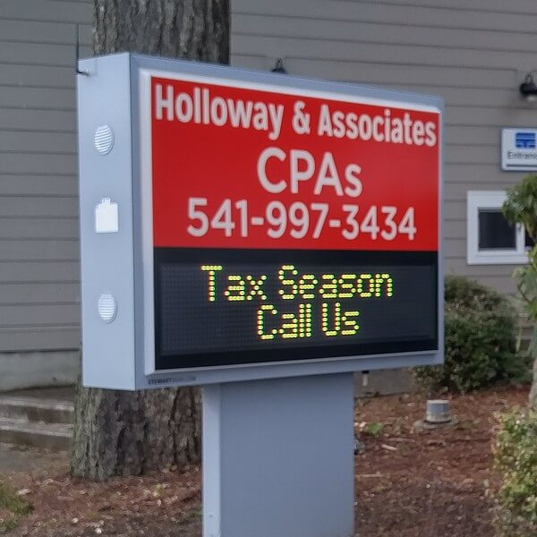 Business Sign for Holloway & Associates, Cpas