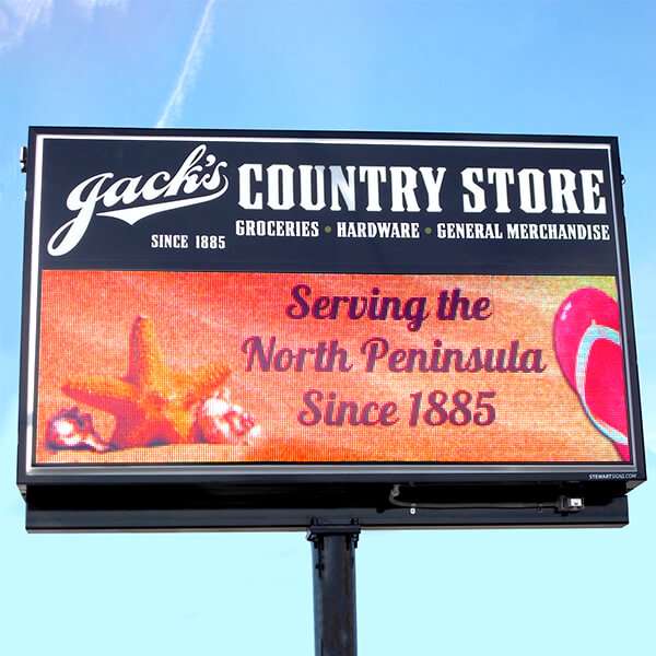 Business Sign for Jack's Country Store Inc