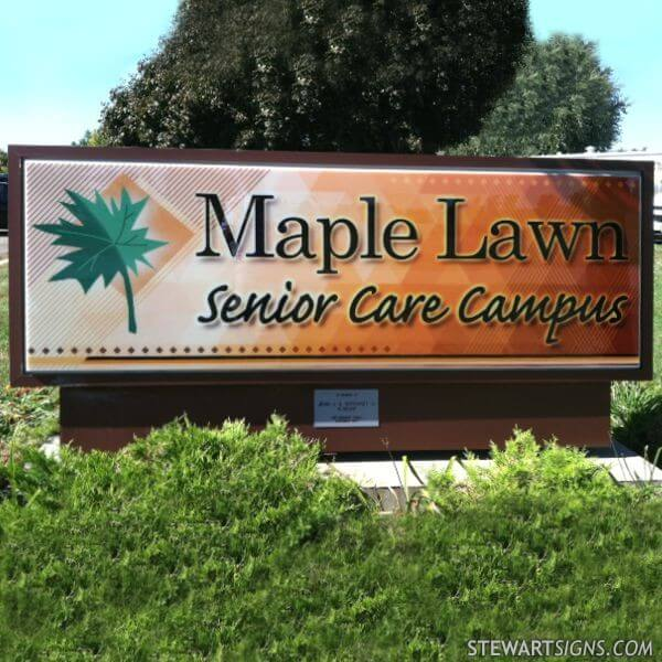 Church Sign for Maplelawn Nursing Home