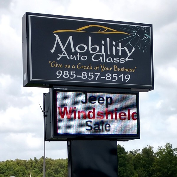 Business Sign for Mobility Auto Glass