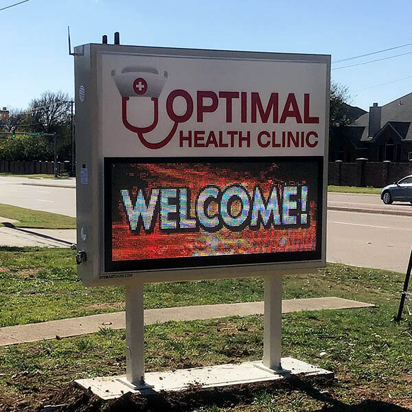 Business Sign for Optimal Health Clinic
