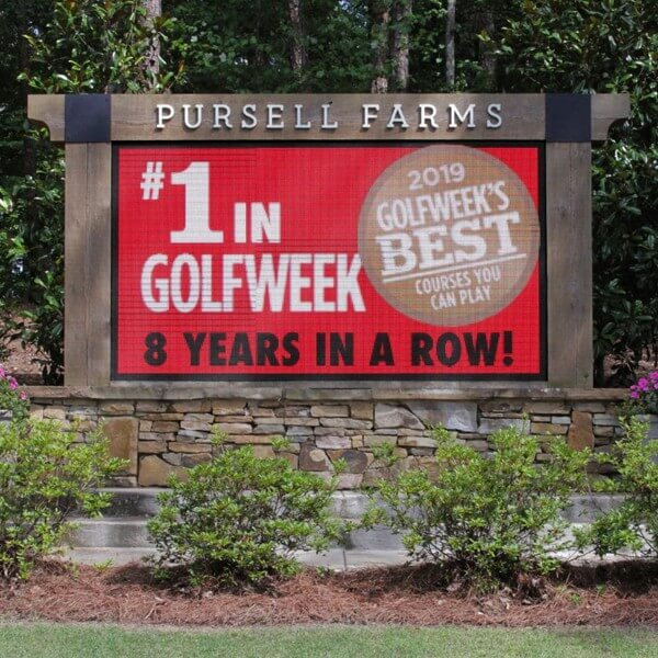 Business Sign for Pursell Farms