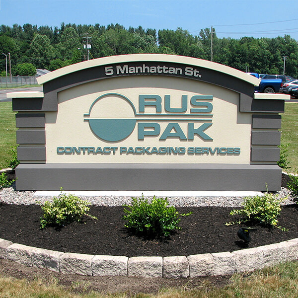Business Sign for Ruspak Corporation
