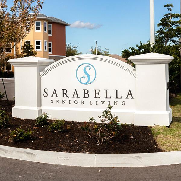 Business Sign for Sarasota Senior Living