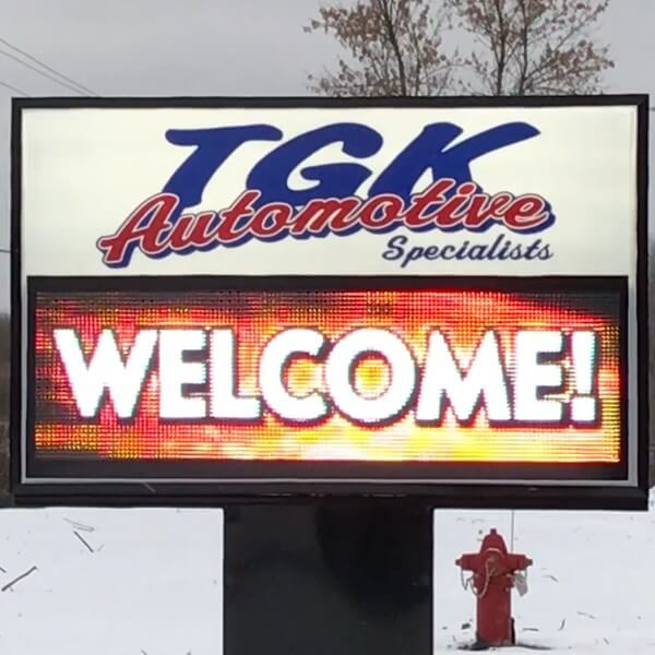 Business Sign for Tgk Automotive