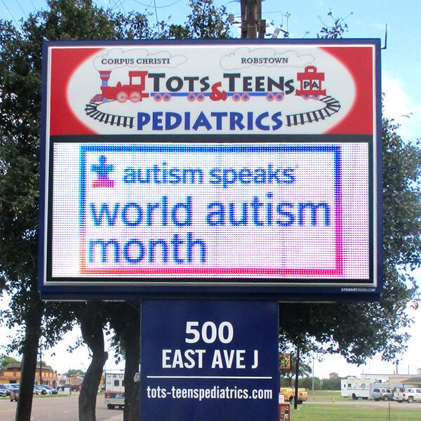 Business Sign for Tots & Teens Pediatrics