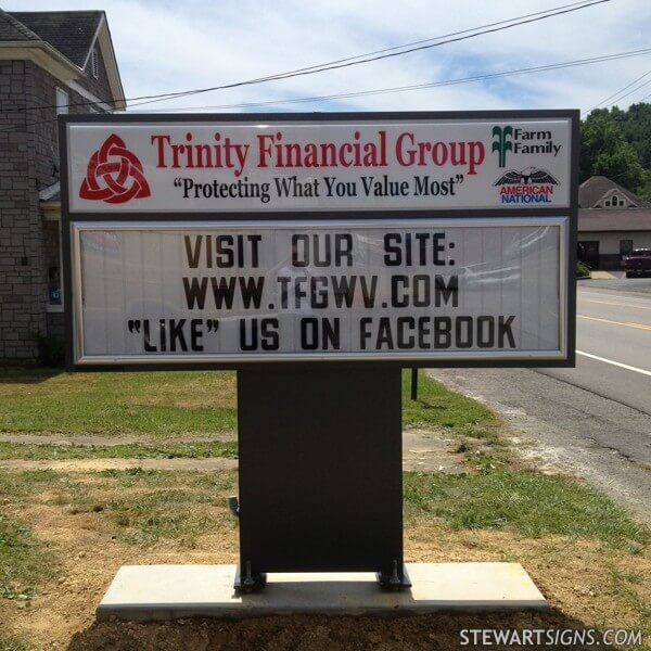 Business Sign for Trinity Financial Group