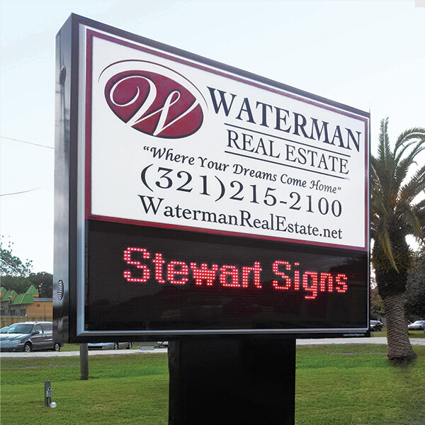 Business Sign for Waterman Real Estate