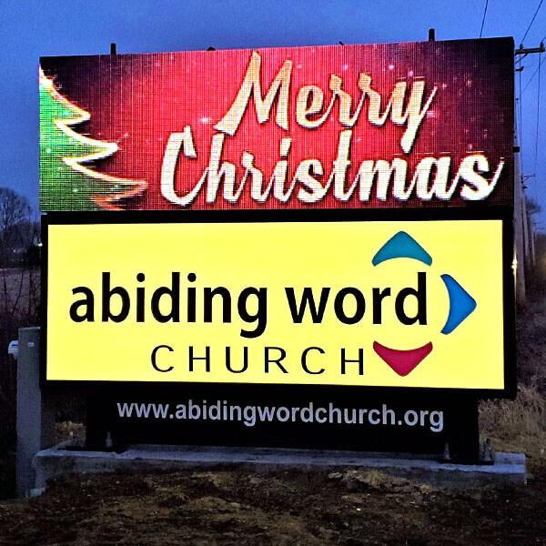 Church Sign for Abiding Word Church