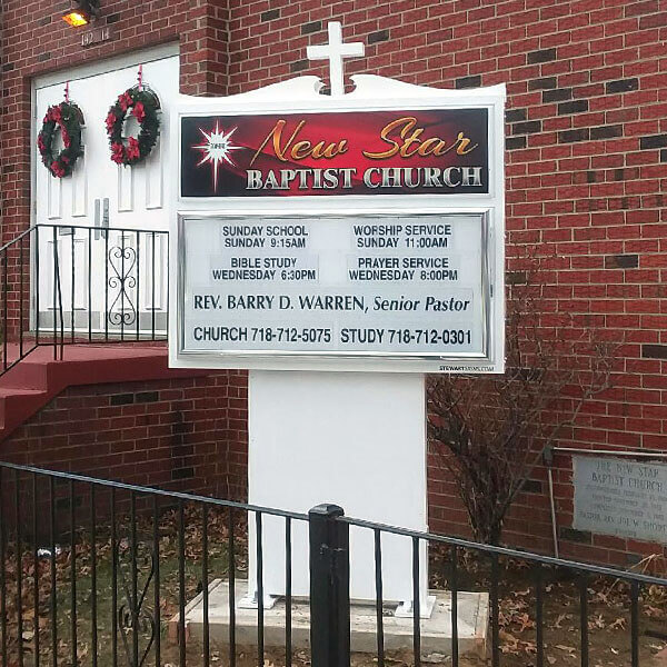 Church Sign for New Star Baptist Church