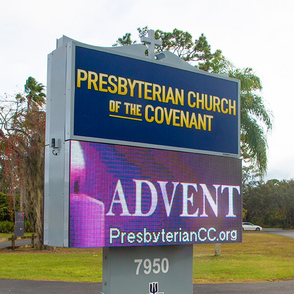 Church Sign for Presbyterian Church Of The Covenant
