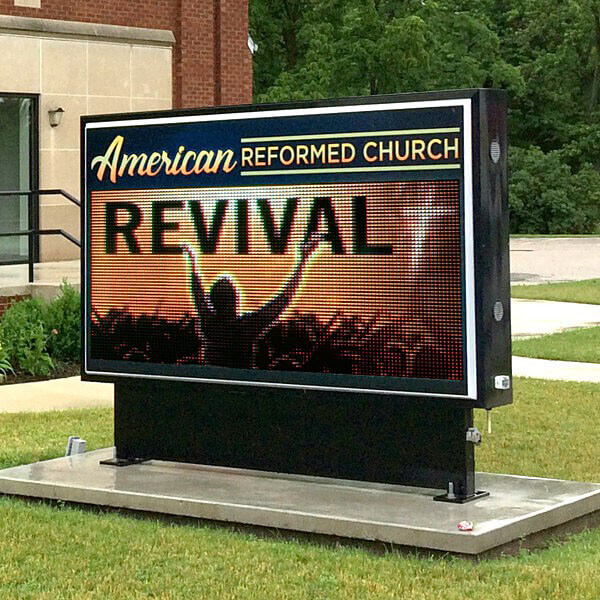 Church Sign for American Reformed Church