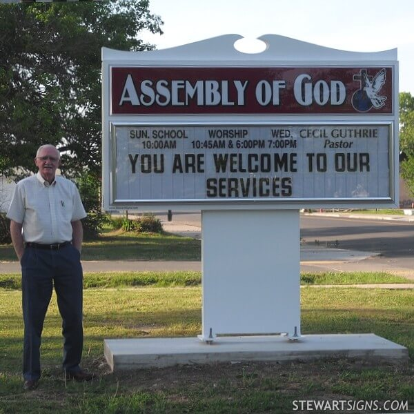 Church Sign for Assembly Of God
