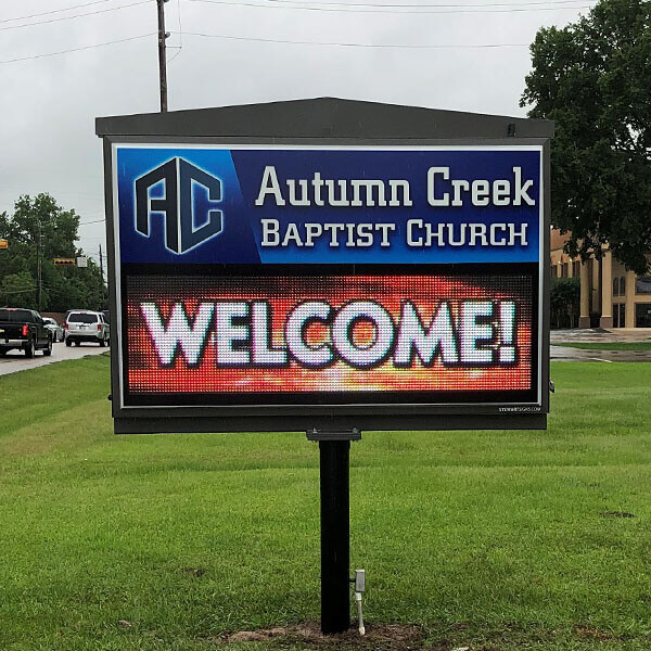 Church Sign for Autumn Creek Baptist Church