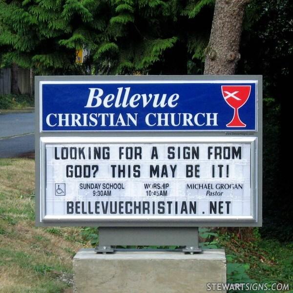 Church Sign for Bellevue Christian Church