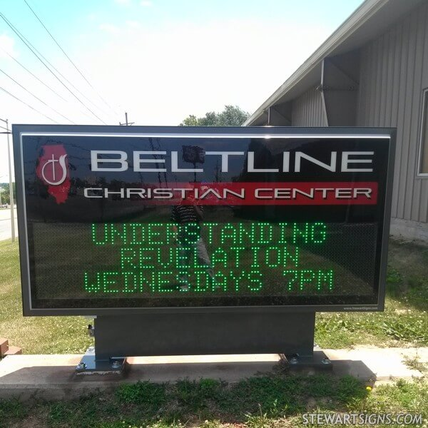 Church Sign for Beltline Christian Church
