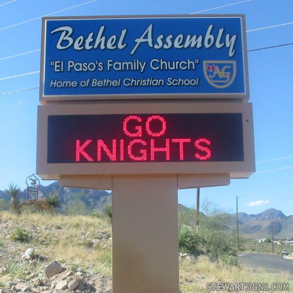 Church Sign for Bethel Temple Assembly And Christian School