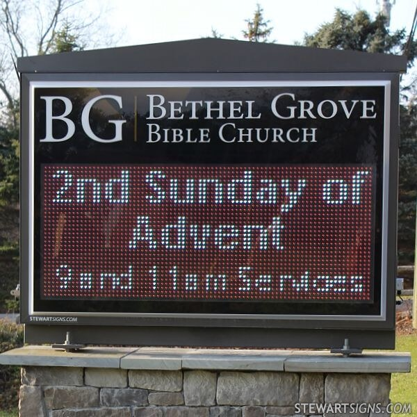 Church Sign for Bethel Grove Bible Church
