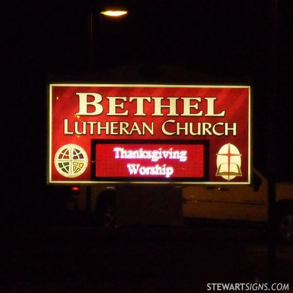 Church Sign for Bethel Lutheran Church Elca