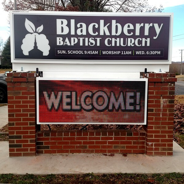 Church Sign for Blackberry Baptist Church