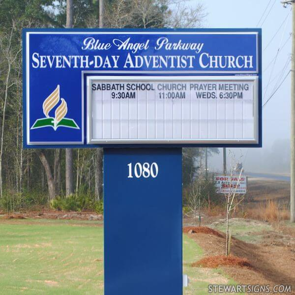 Church Sign for Blue Angel Parkway Seventh-day Adventist Church