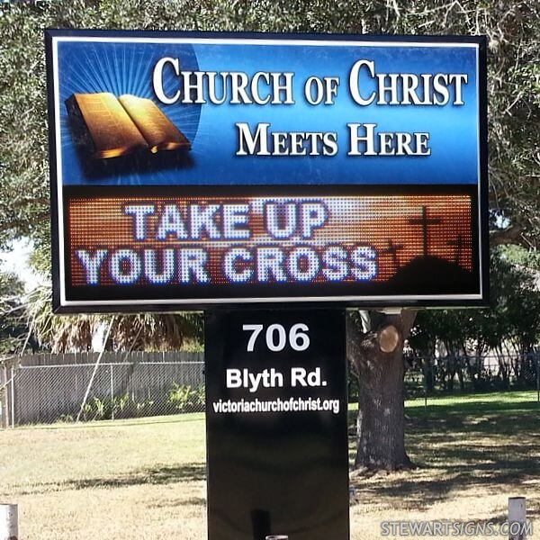 Church Sign for Blyth Road Church Of Christ