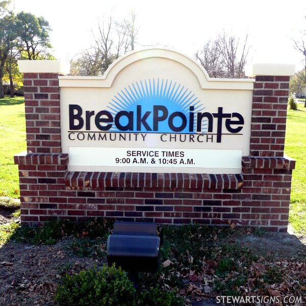 Church Sign for Breakpointe Community Church