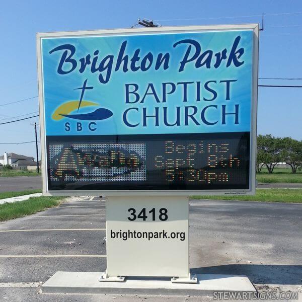 Church Sign for Brighton Park Baptist Church