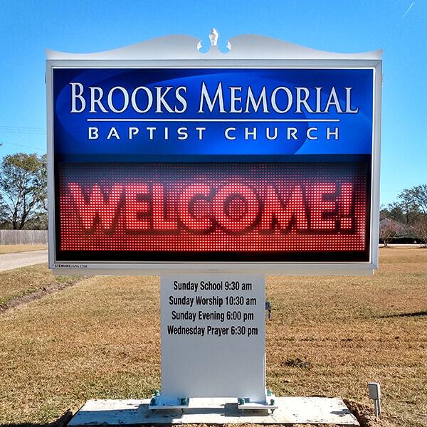 Church Sign for Brooks Memorial Baptist Church