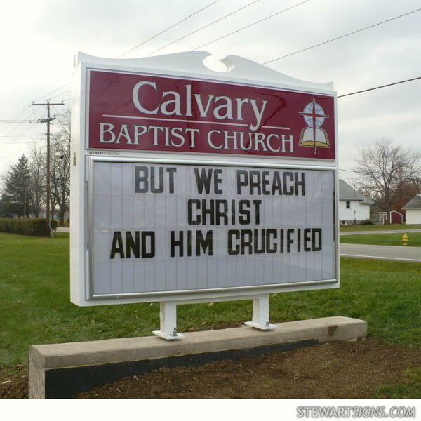 Church Sign for Calvary Baptist Church