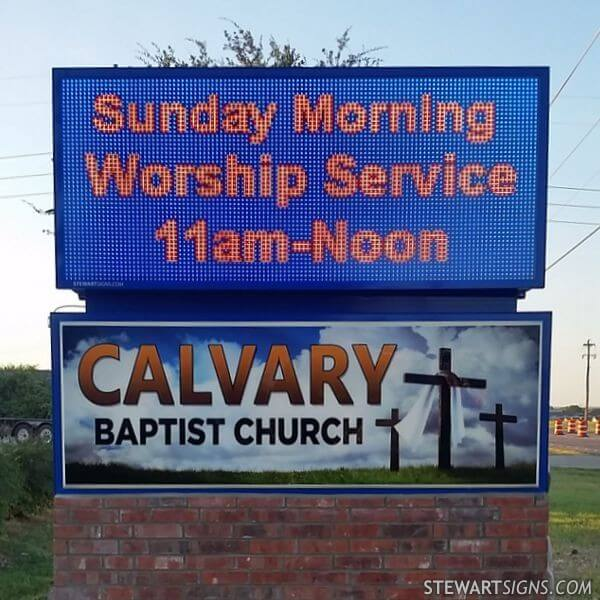 Church Sign for Calvary Baptist Church